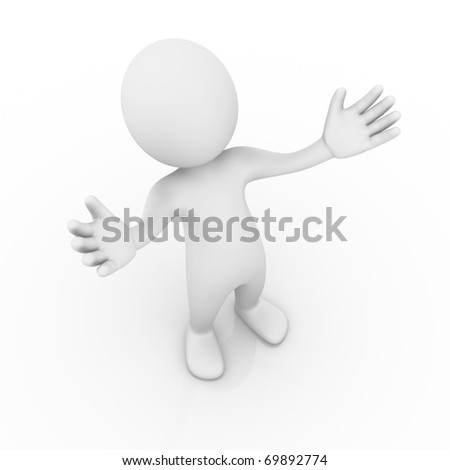 Open arms / offering / Welcome - stock photo