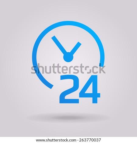 open around the clock  icons - stock photo