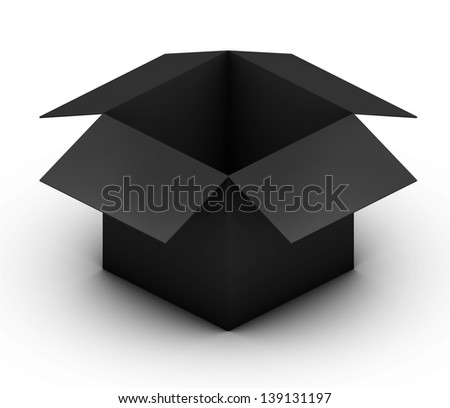 Open black Box - stock photo