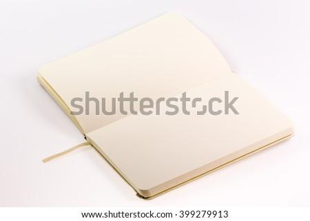 Open Blank Book - stock photo