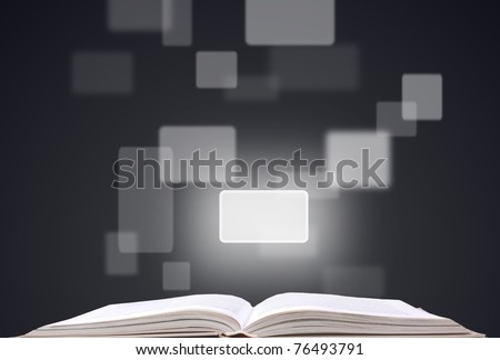 open book and buttons - stock photo