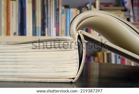 open book, close up - stock photo