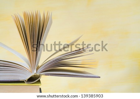 open book, close up,selective focus, free copy space - stock photo
