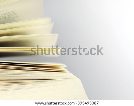 Open book, close up shot of book pages. - stock photo