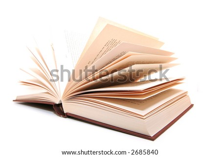 Open book in isolated background - stock photo