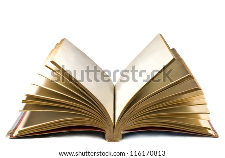open book isolated on a white background - stock photo