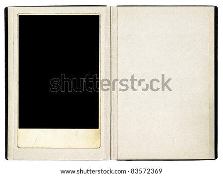 Open book path added - stock photo