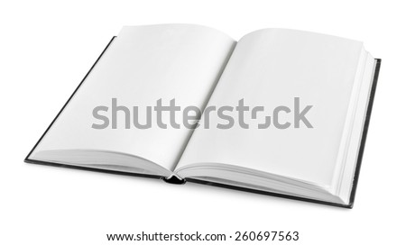 Open, book, studying. - stock photo