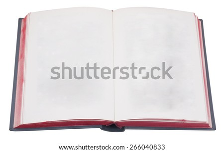 Open book with red edge - stock photo