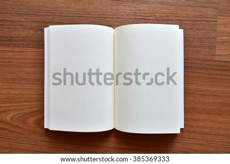 Open Book Writing - stock photo