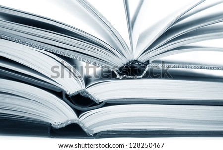 open books - stock photo