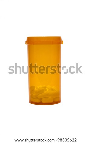 Open Bottle of Prescription Pills - stock photo
