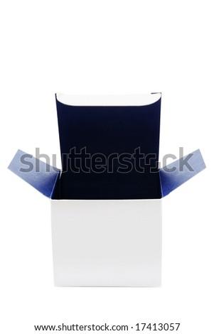 Open box isolated over white background - stock photo