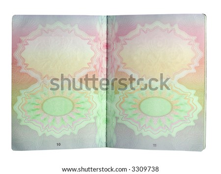 open british passport isolated on white - stock photo