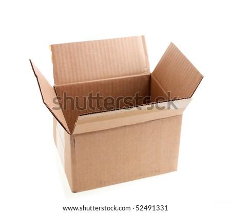 Open cardboard box - stock photo