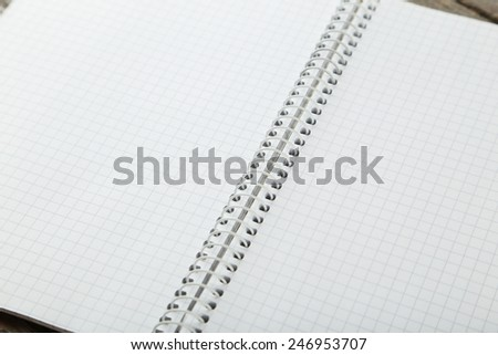Open clear notebook  - stock photo