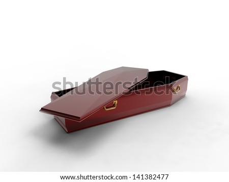 Open Coffin - stock photo