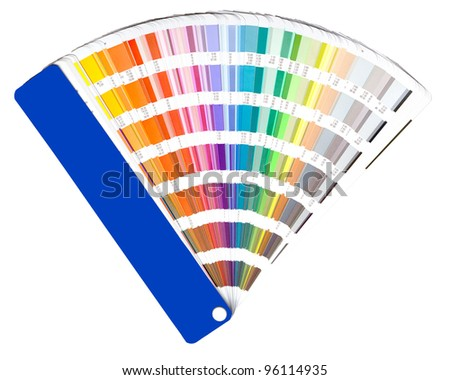 open color guide swatch on white - stock photo
