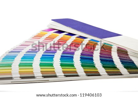 open color scale in horizontal position - stock photo
