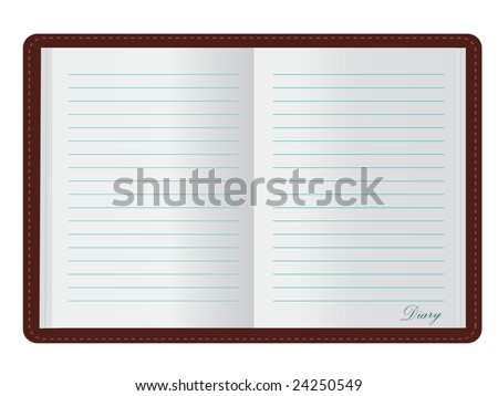 Open Diary (JPG and Vector versions of this file both available in my portfolio) - stock photo
