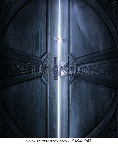 open door light - stock photo