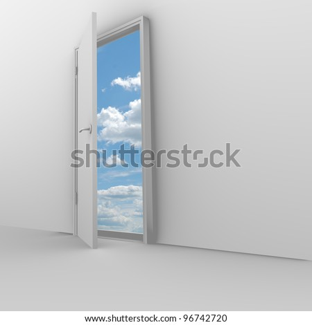 Open Door to the sky - stock photo