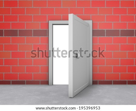 open doors, new possibilities and chances abstract concept - stock photo