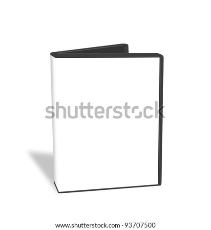 Open DVD box isolated - stock photo