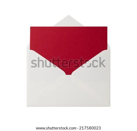 Open envelope - stock photo