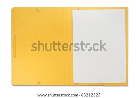 Open file isolated on white - stock photo