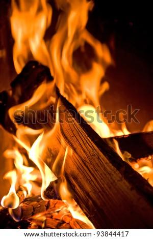 open fire - stock photo