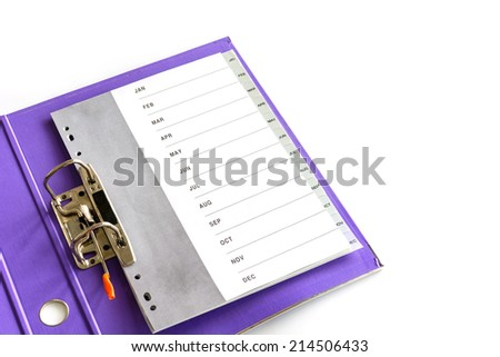open folder isolated on white - stock photo