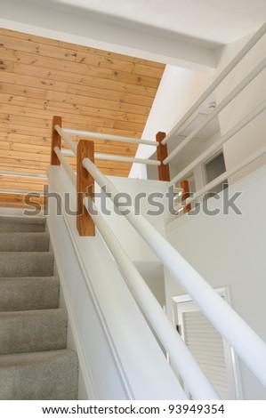 Open Foyer Staircase - stock photo