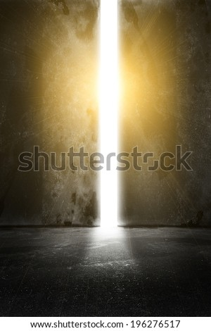Open gate - stock photo