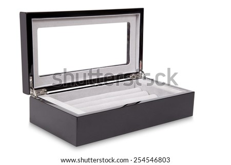 Open gift box isolated on a white background - stock photo