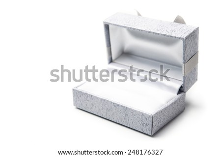 Open gift box isolated on white background - stock photo