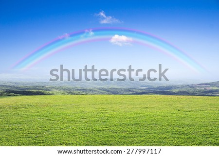 open grassland and sky. - stock photo