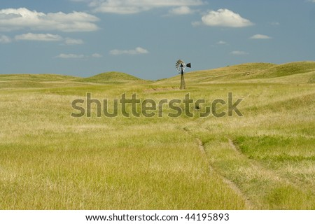 open grassland in Nebraska - stock photo