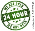 Open 24 hour - stock photo