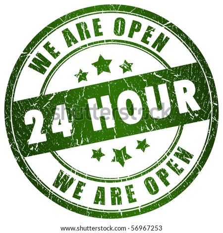 Open 24 hour - stock photo