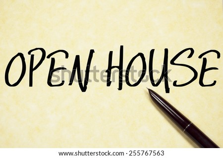 open house text write on paper  - stock photo