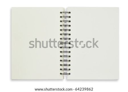 Open notebook for background and text - stock photo