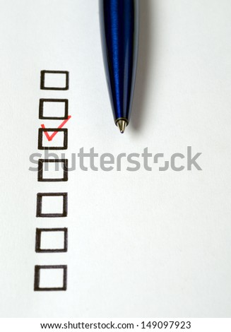 Open notebook with pen on clean sheets - stock photo