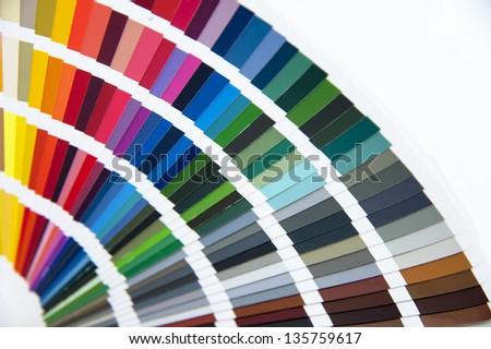 Open pantone color card - stock photo