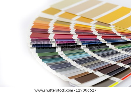Open Pantone/RAL color card - stock photo
