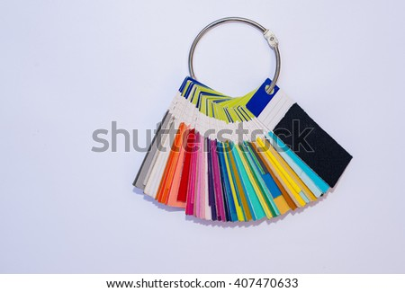 Open Pantone sample colors - stock photo