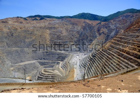Open Pit Copper Mine - stock photo
