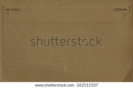 Open printed over corrugated cardboard - stock photo