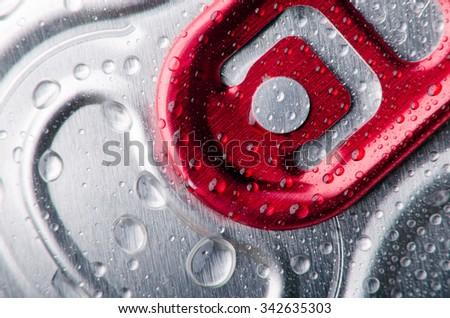 Open ring of cooled metallic jar - stock photo