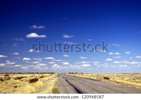 Open road ahead, endless road for concept - stock photo